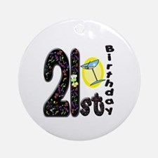 21st Birthday Ornament (Round)