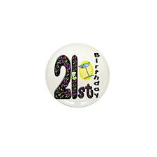 21st Birthday Mini Button (10 pack)