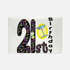 21st Birthday Rectangle Magnet