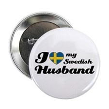 "I love my Swedish Husband 2.25"" Button"