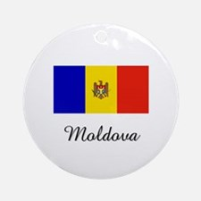 Moldova Flag Ornament (Round)