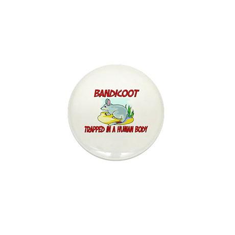 Bandicoot trapped in a human body Mini Button