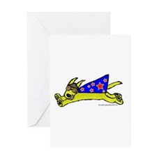 Super Doggie Jump Greeting Card