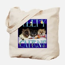 Sleepy Cairn Terriers Tote Bag