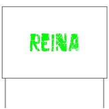 Reina Faded (Green) Yard Sign