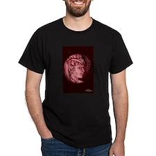Margery cameo burgundy T-Shirt