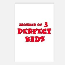 Mother of 3 Perfect Kids Postcards (Package of 8)