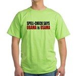 Spell Check Obama Green T-Shirt