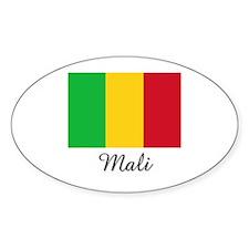 Mali Flag Oval Decal