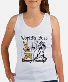 World's Best Bunny, Rabbit Grandpa Women's Tank To