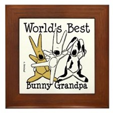 World's Best Bunny, Rabbit Grandpa Framed Tile