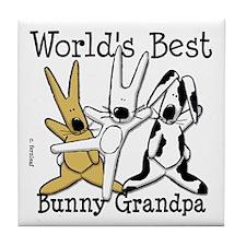 World's Best Bunny, Rabbit Grandpa Tile Coaster