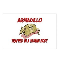 Armadillo trapped in a human body Postcards (Packa
