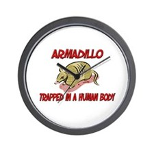 Armadillo trapped in a human body Wall Clock