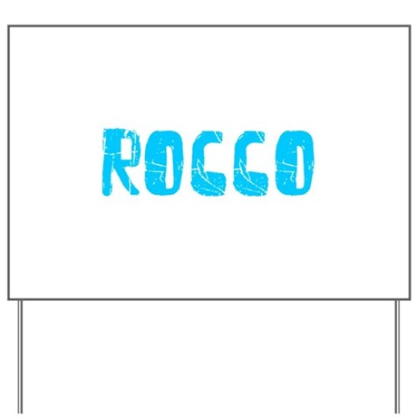 Rocco Faded (Blue) Yard Sign