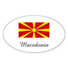 Macedonia Flag Oval Decal