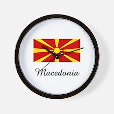 Macedonia Flag Wall Clock