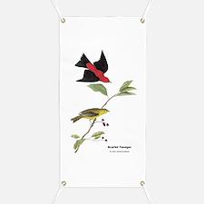 Audubon Scarlet Tanager Birds Banner