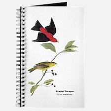 Audubon Scarlet Tanager Birds Journal