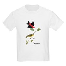 Audubon Scarlet Tanager Birds (Front) T-Shirt