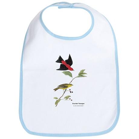 Audubon Scarlet Tanager Birds Bib