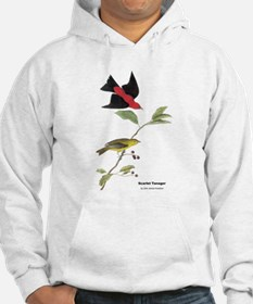 Audubon Scarlet Tanager Birds (Front) Hoodie