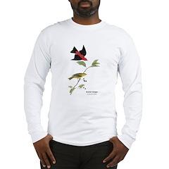 Audubon Scarlet Tanager Birds (Front) Long Sleeve