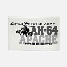 Army Apache Helicopter Rectangle Magnet