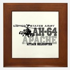 Army Apache Helicopter Framed Tile
