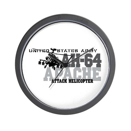 Army Apache Helicopter Wall Clock