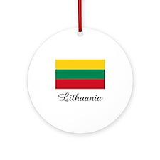 Lithuania Flag Ornament (Round)