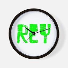 Rey Faded (Green) Wall Clock