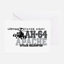 Army Apache Helicopter Greeting Card