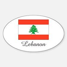 Lebanon Flag Oval Decal