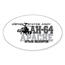Army Apache Helicopter Decal