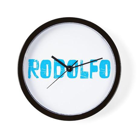 Rodolfo Faded (Blue) Wall Clock
