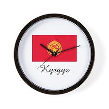 Kyrgyz Flag Wall Clock