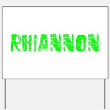 Rhiannon Faded (Green) Yard Sign