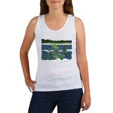 Women's Tank Top with Lily Pads