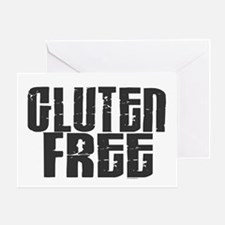 Gluten Free 1.3 (Charcoal) Greeting Card