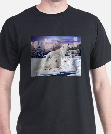Snow Wolves of the Wild T-Shirt