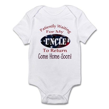 Patiently waiting for my Uncl Infant Bodysuit