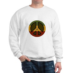 One Love Peace Sign Sweatshirt
