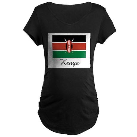 Kenya Flag Maternity Dark T-Shirt