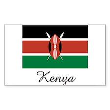 Kenya Flag Rectangle Decal