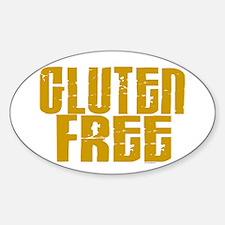 Gluten Free 1.4 (Mustard) Oval Decal