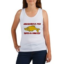 Anadromous Fish trapped in a human body Women's Ta
