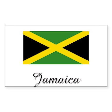 Jamaica Flag Rectangle Sticker