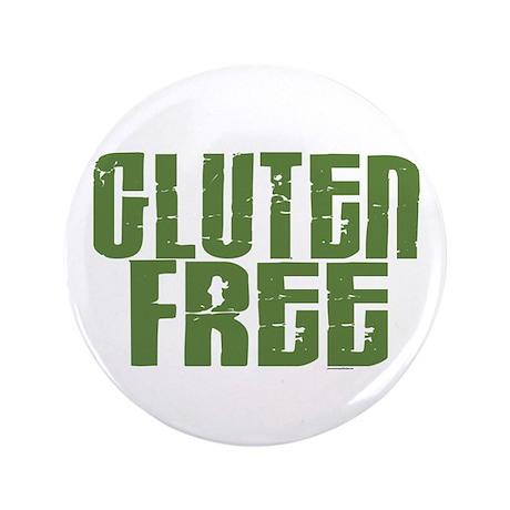 """Gluten Free 1.6 (Dark Sage) 3.5"""" Button (100 pack)"""
