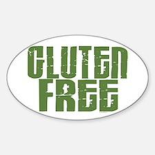 Gluten Free 1.6 (Dark Sage) Oval Decal